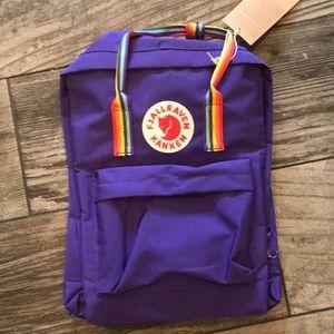 NWT Fjallraven Kanken Backpack Purple Rainbow